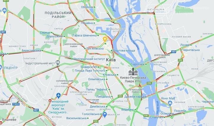 Затори у Києві зранку 12 березня: як об'їхати та де ускладнено проїзд, фото-1